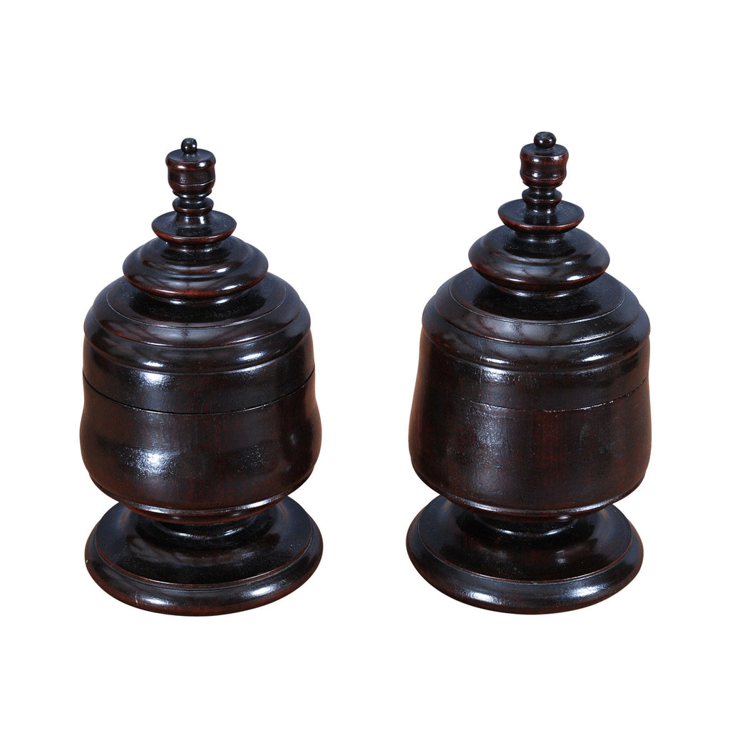 Pair of Treen Spice Jars