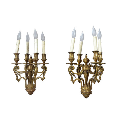 pair of antique ormalu lanterns english circa 1830