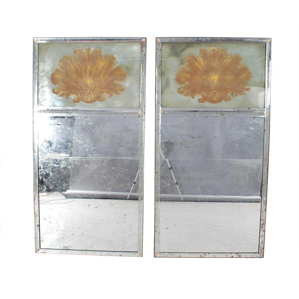 Pair of Large Deco-Style Mirrors