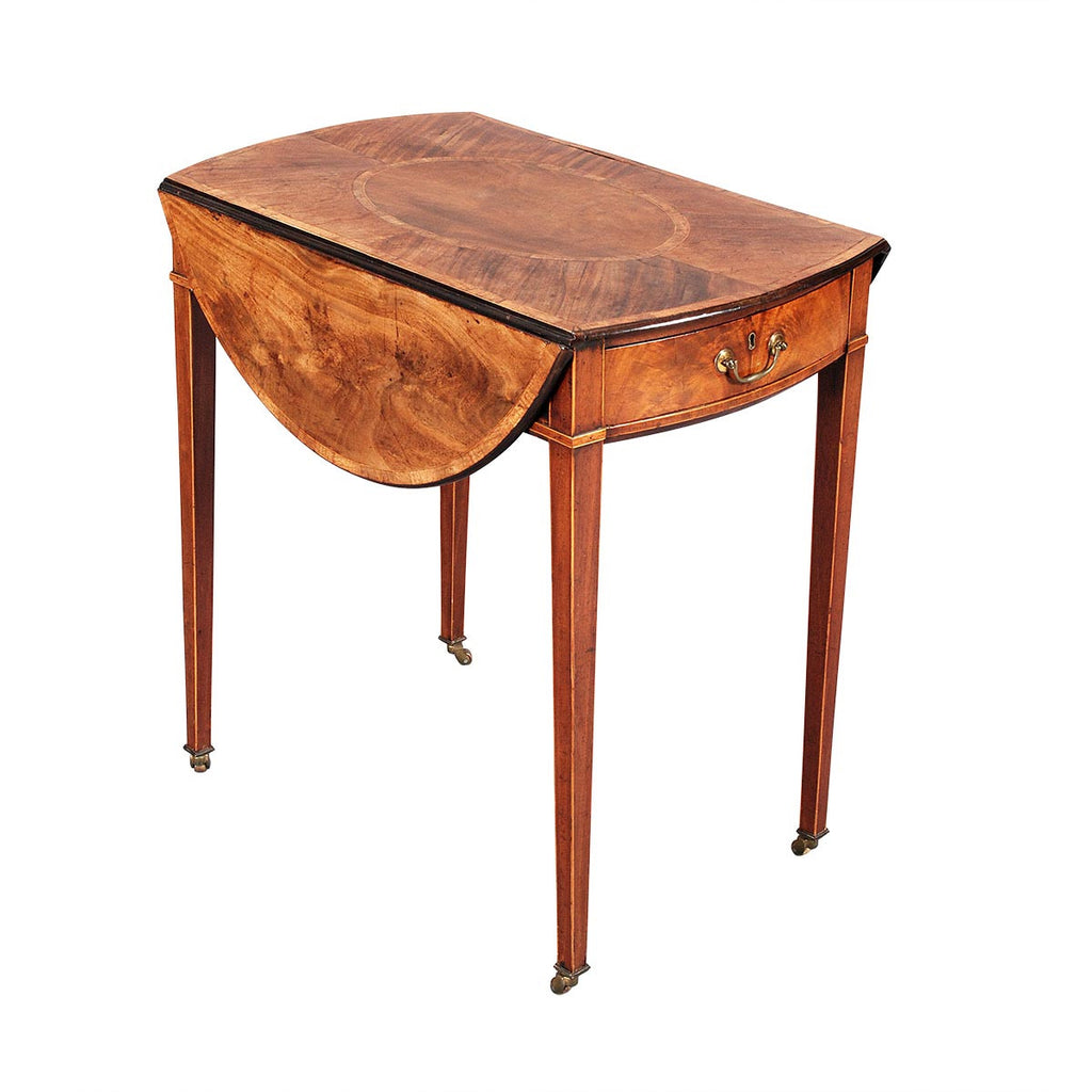 Small Pembroke Table with Exceptional Color and Patina