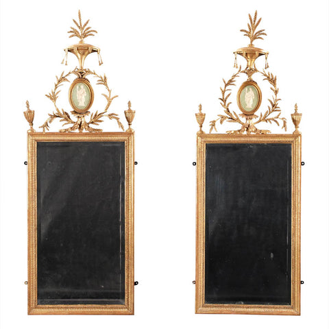Pair of Adam Period Gilded Mirrors