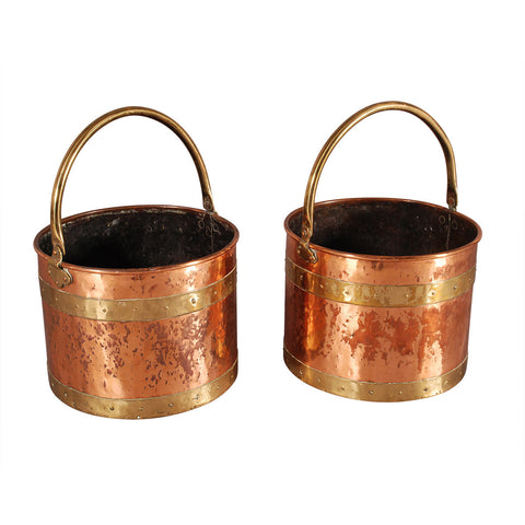 Pair of Copper Buckets