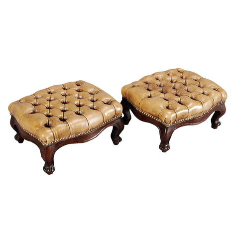 Pair of Tufted Footstools