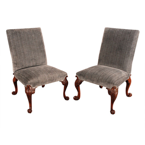Pair of George II Walnut Side Chairs