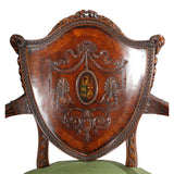 Pair of Oversized Shield-Back Armchairs