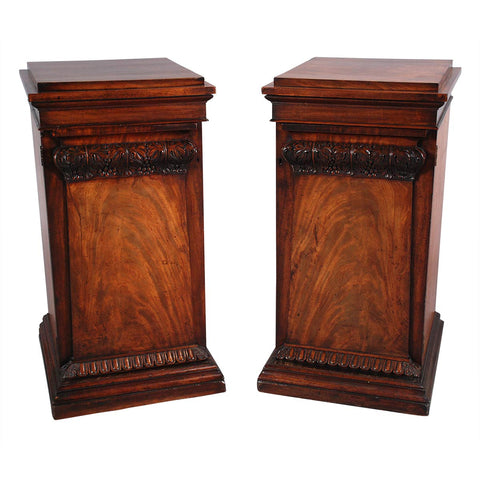 Pair of Mahogany Pedestals