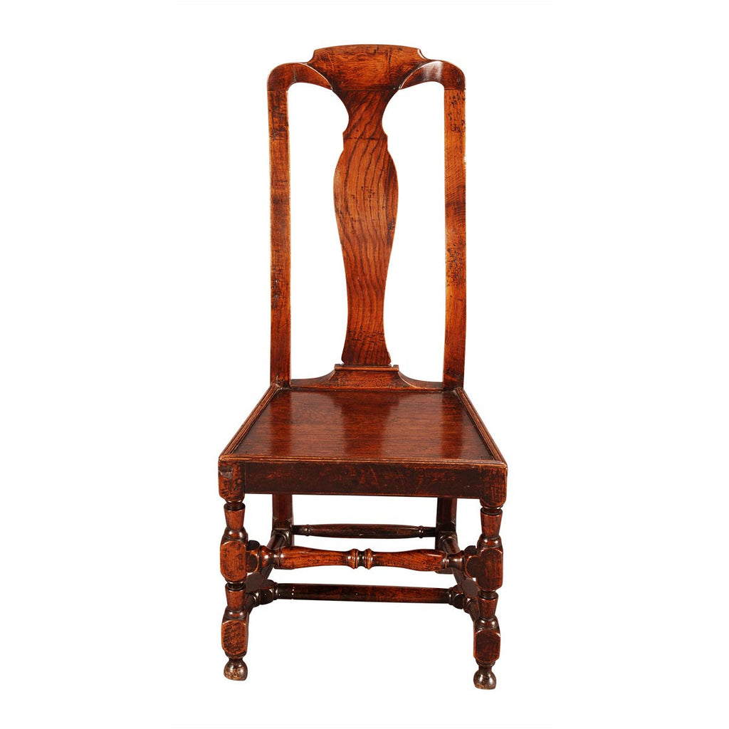 ... A Pair Of Country Queen Anne Chairs ...
