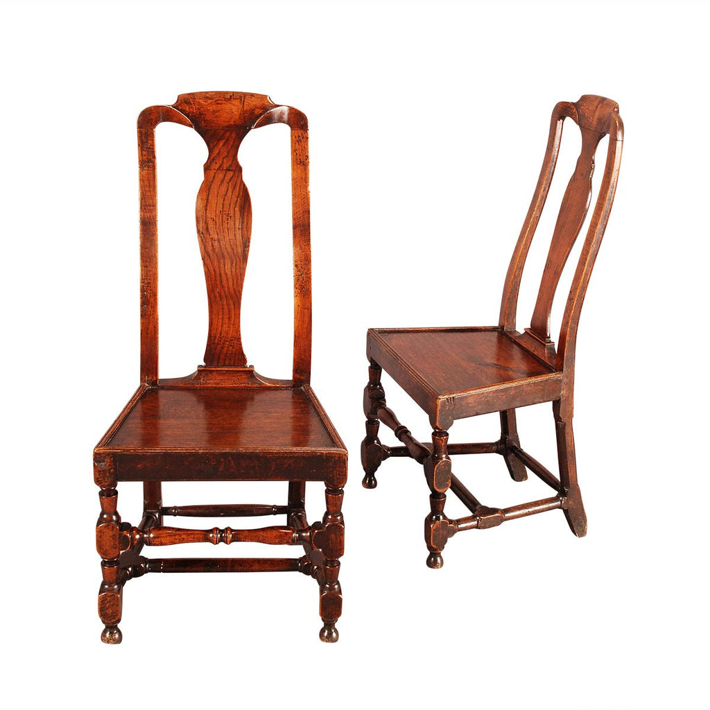 ... A Pair of Country Queen Anne Chairs ... - A Pair Of Country Queen Anne Chairs – Jayne Thompson Antiques Inc.