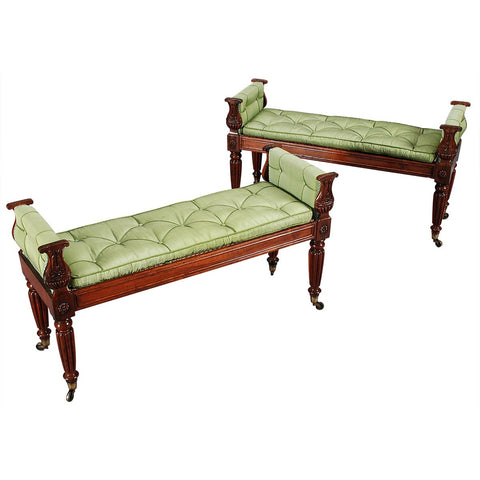 Pair of Rosewood Window Seats