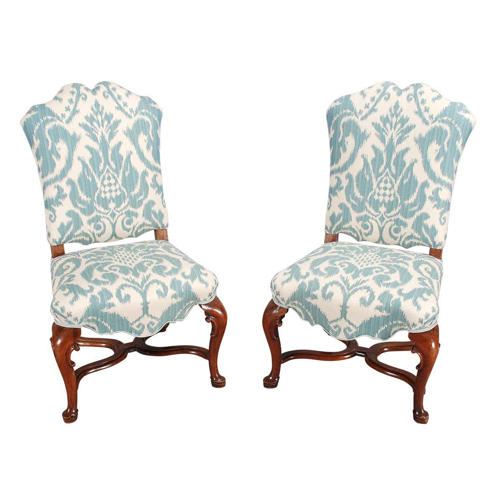 Pair of Walnut Chairs on Cabriole Legs