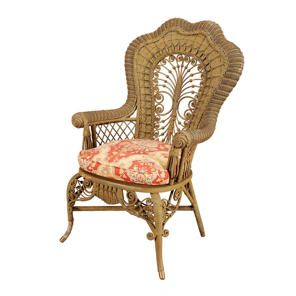 ... Pair Of Painted Wicker Armchairs ...