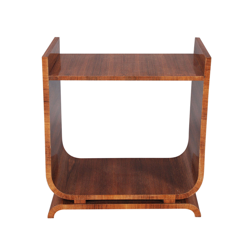 Rosewood Art Deco Table with Shelf Below