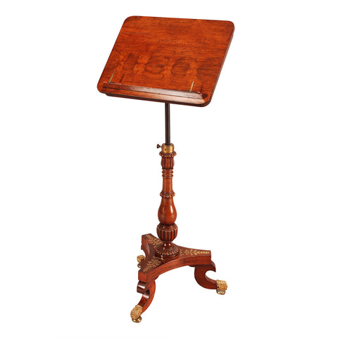 Rosewood and Brass Music Stand