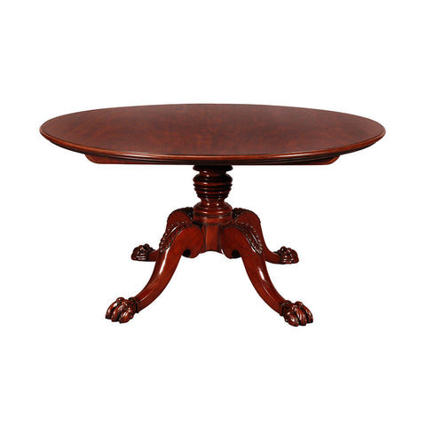 A 19th century Irish round mahogany breakfast table. view 1