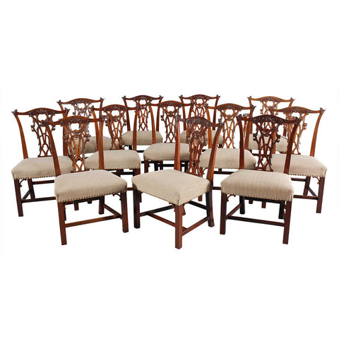 Set of 12 Mahogany Dining Chairs