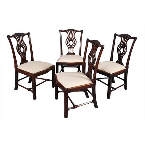 Set of Four Chippendale Period Chairs