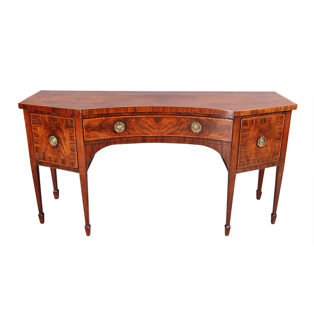 Sheraton Period Sideboard with Concave Front
