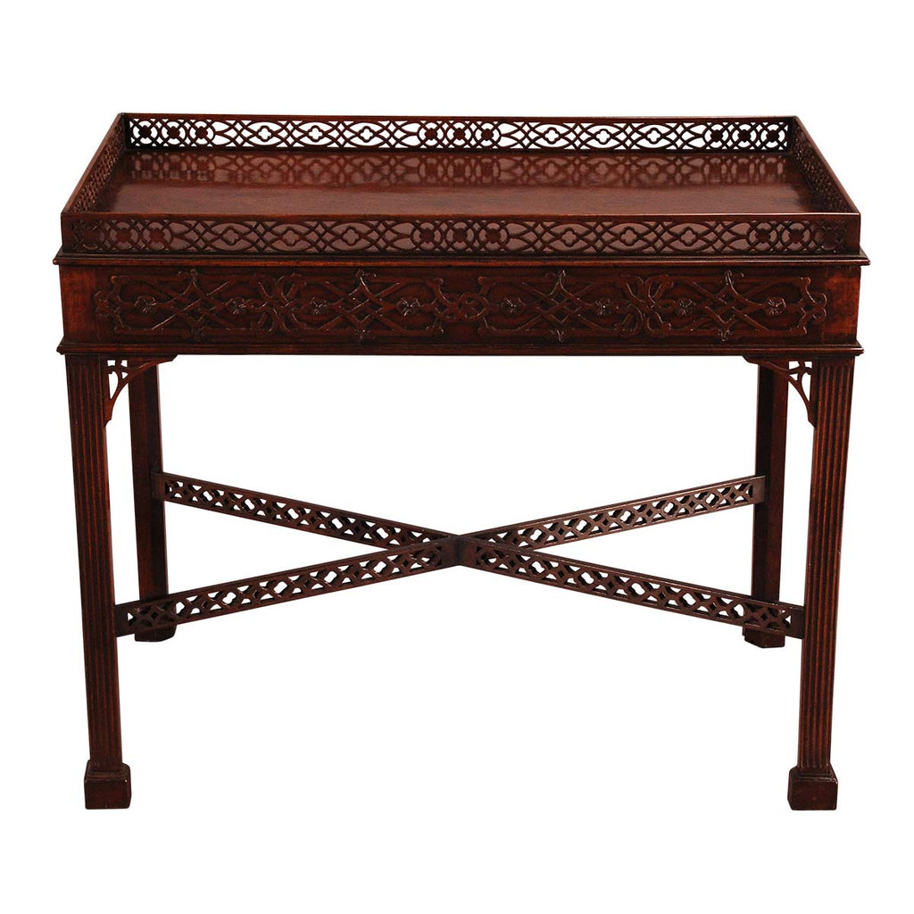 English Mahogany Silver Table