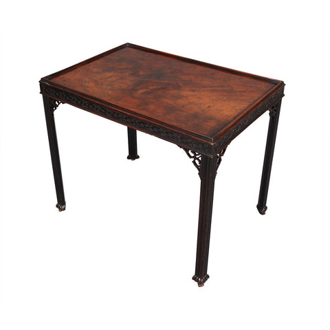 Chippendale Period Mahogany Silver Table