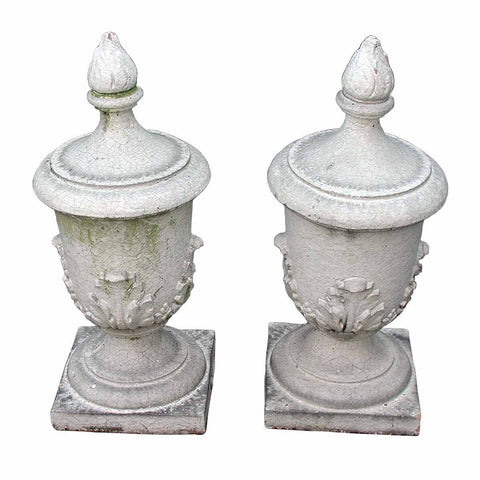 A pair of terra cotta finials. view 1