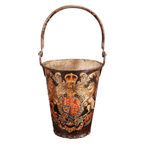 Tole Bucket with Coat of Arms