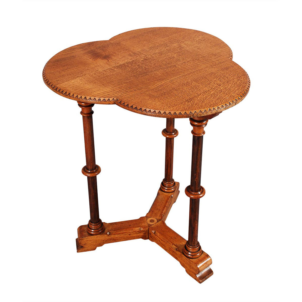 Trefoil-Top Occasional Table
