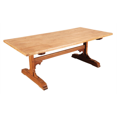Pale Colored Trestle Table