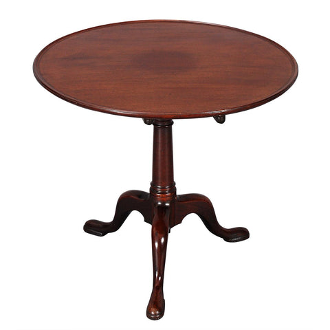 "Mahogany Dish-Top Tripod Table-32"" Diameter"