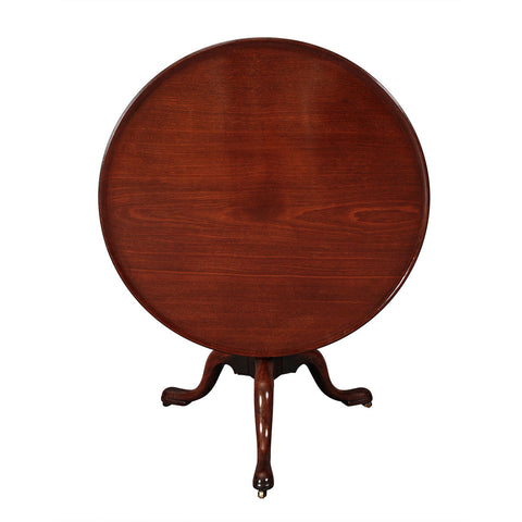 "Large Dish-Top Tripod Table-37"" diameter"