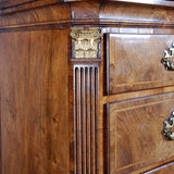 Walnut Chest on Chest with Corinthian Pilasters