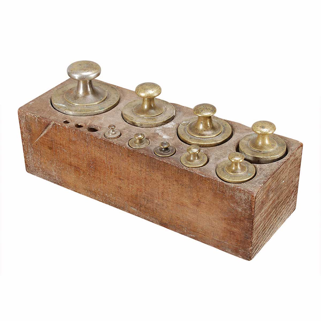 Partial Set of Brass Weights