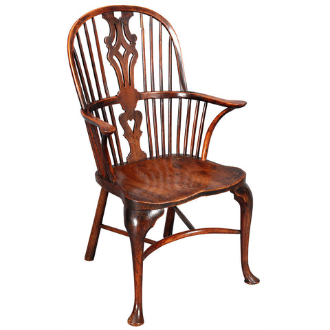 Yew-wood and Elm Windsor with Cabriole Legs