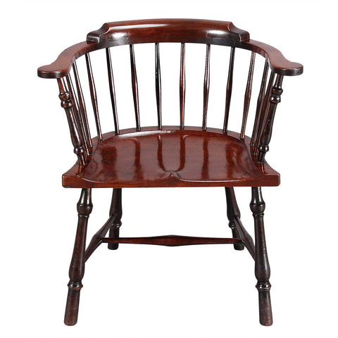 Low-Back Mahogany Windsor Chair
