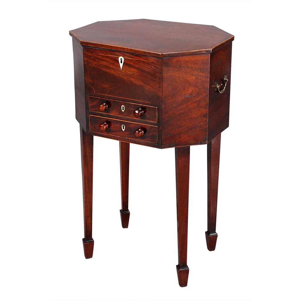 Octagonal Mahogany Work Table