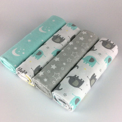 4pcs/pack 100% cotton soft baby blanket set