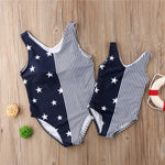 Women Baby Girl Striped Stars Pattern