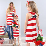 Mother Daughter Striped Dress Outfits