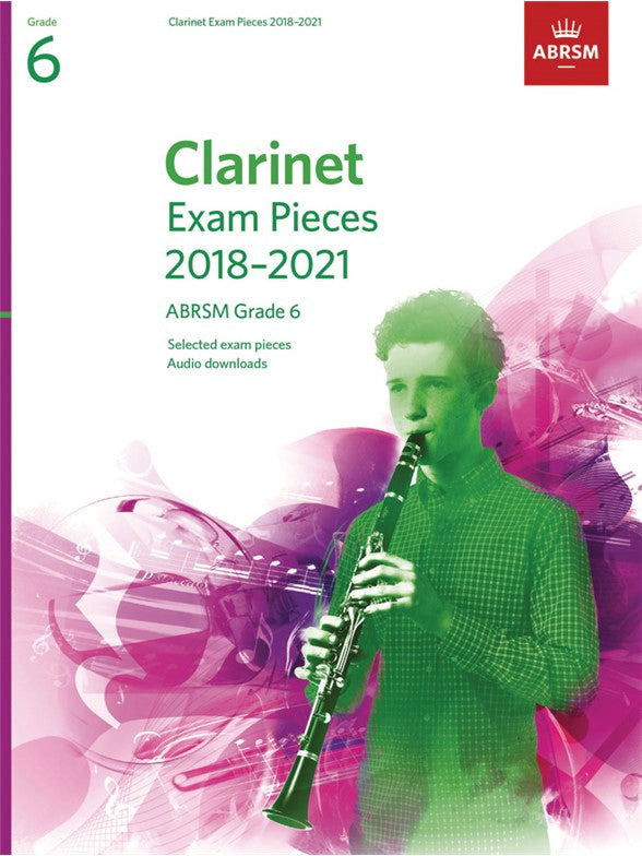 ABRSM Grade 6 Clarinet Exam Pieces 2018-2021