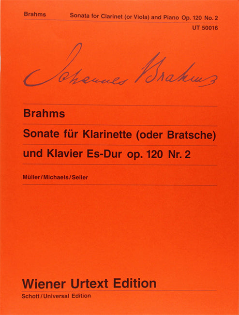 Sonata for Clarinet (or Viola) and Piano No. 2 in Eb Major - Brahms