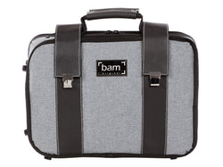BAM Hightech Double Clarinet Case Grey Flannel