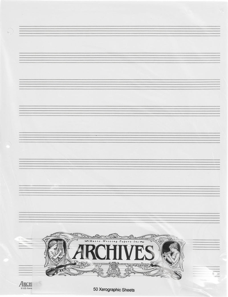 Archives Manuscript - 50 Xerographic Sheet