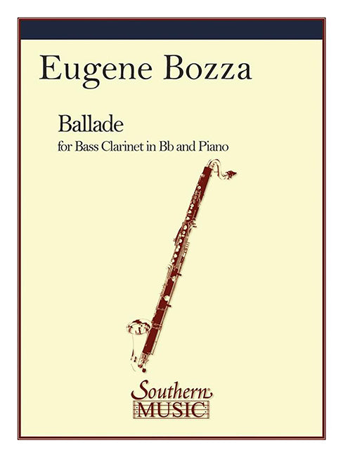 Ballade for Bass Clarinet in Bb and Piano - Eugene Bozza