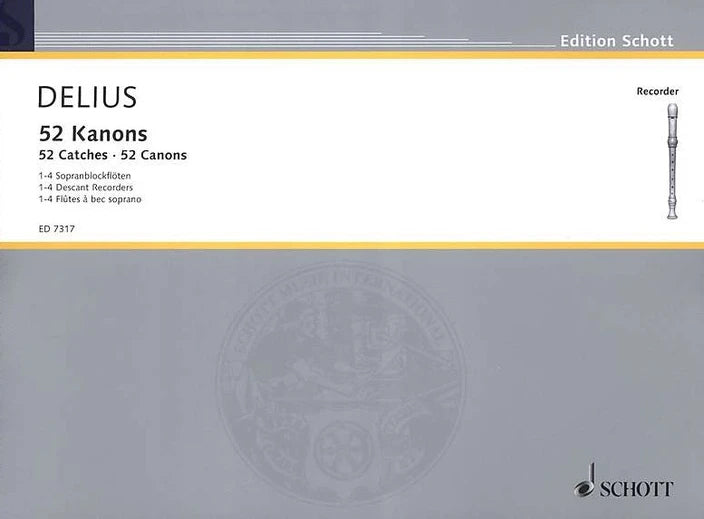 DELIUS - 52 Kanons for recorder