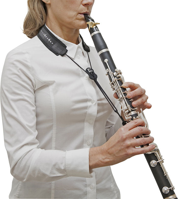 BG C20LPD -Clarinet Glam Neck Strap - Nylon Regular Sling