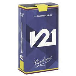 Vandoren V21 Bb Clarinet Reeds Box of 10