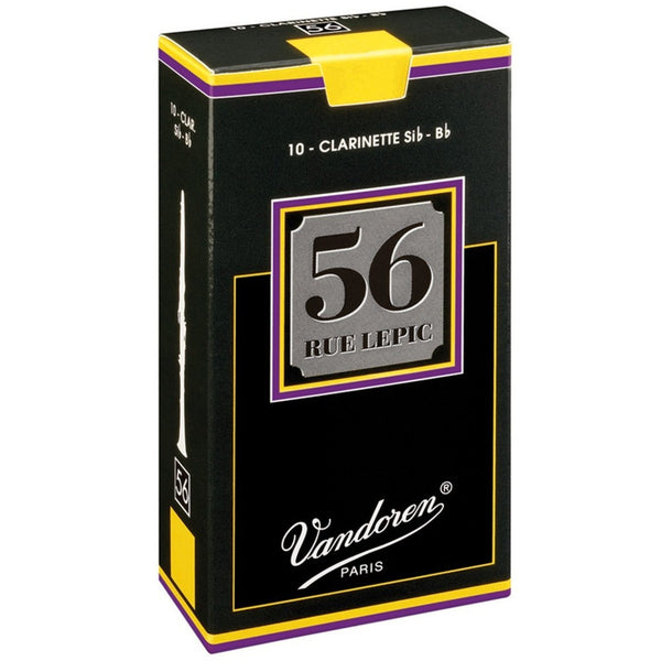 Vandoren 56 Rue Lepic Bb Clarinet Reeds Box of 10