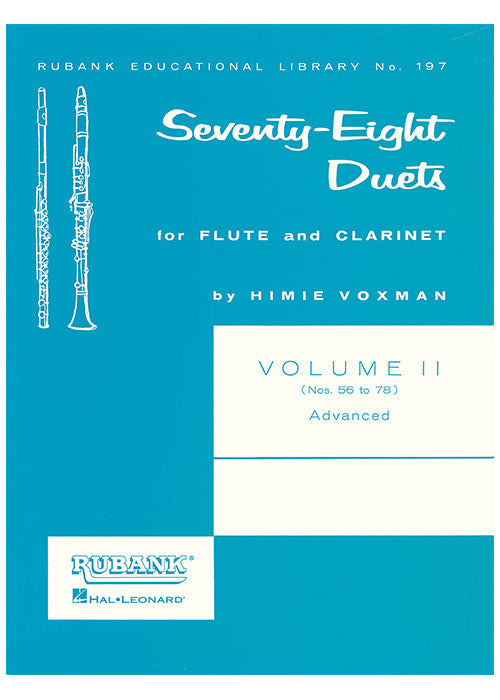 Seventy-Eight Duets for Flute & Clarinet Volume II - Advanced