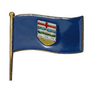 Alberta Flag Lapel / Hat Pin 7/8""