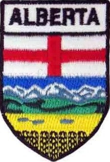 "Alberta Shield Patch 2.5"" x 1.5"""