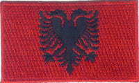 "Albania Flag Patch 1.5"" x 2.5"""